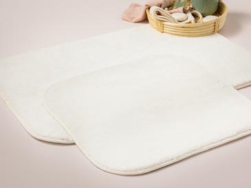 Puffy Polyester 2'li Banyo Paspası Seti 60x90 + 50x60 Cm Ekru