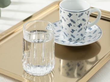 Koza Cam 6'lı Kahve Yanı Su Bardağı 135 Ml Şeffaf