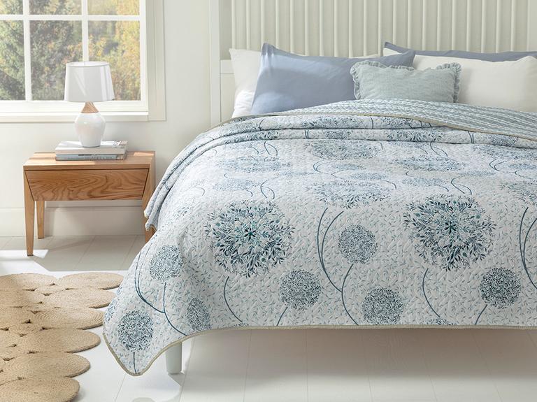 Dandelion Çift Kişilik Çok Amaçlı Yatak Örtüsü 200x220 Cm Mavi