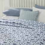 Tribal Damask King Size Çok Amaçlı Yatak Örtüsü 240x220 Cm Mavi