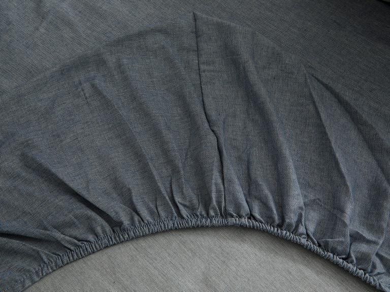 Comfy Stripe İpliği Boyalı Çift Kişilik Uyku Seti 200x220 Cm Mavi