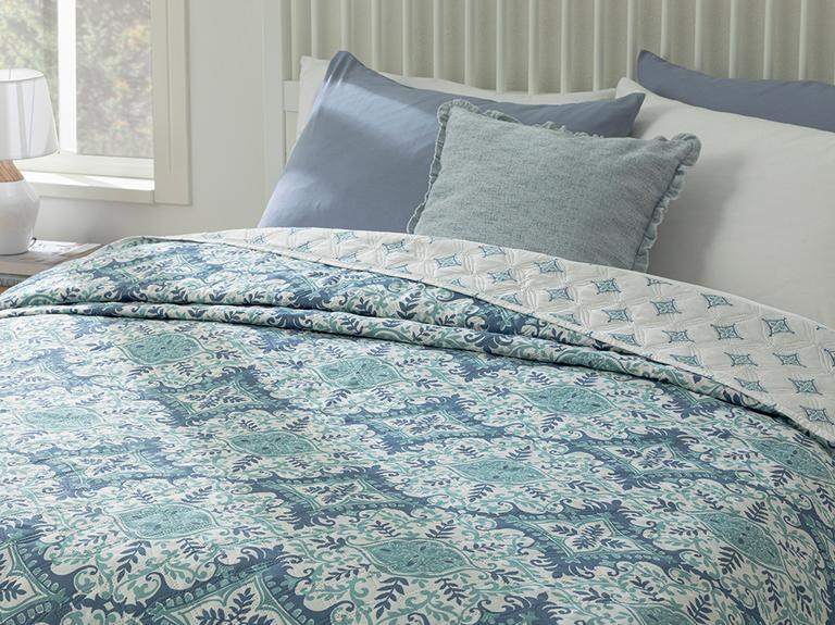 Cameo Tek Kişilik Çok Amaçlı Yatak Örtüsü 160x220 Cm Mavi