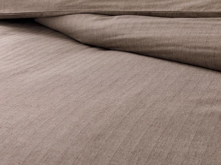 Sharp Twill Suit King Size Nevresim Takımı 240x220 Cm Kahve