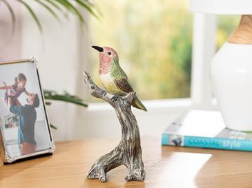 Humming Birds Polyresin Biblo 9*7*19.5cm Yeşil