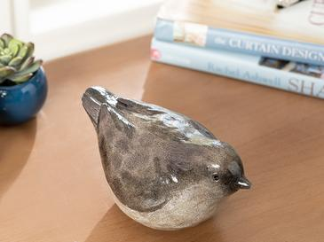 Robin Bird Polyresin Biblo 18.3*9.5*9.7cm Kahve