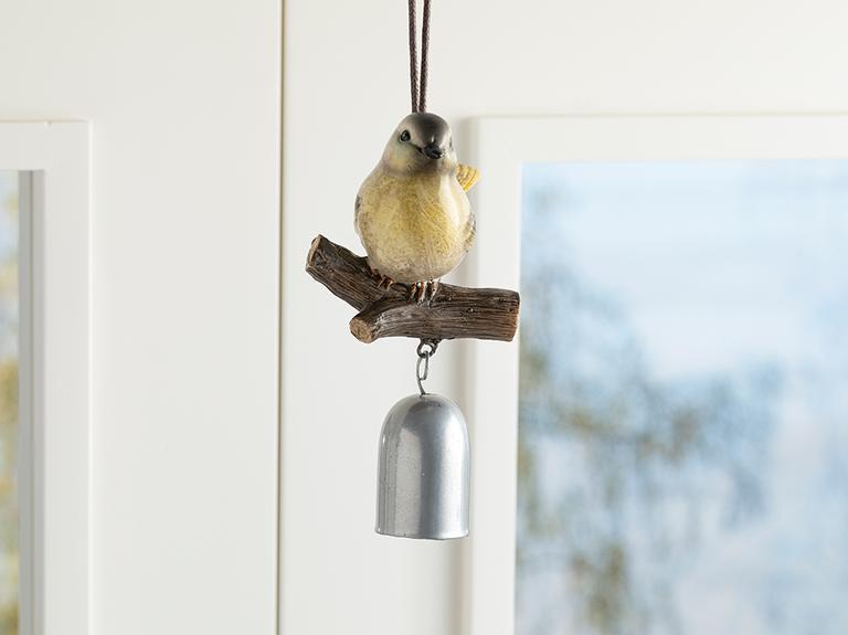 Bird Tweet Polyresin Askılı Aksesuar 9.2*8.2*15cm Sarı