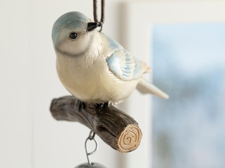 Bird Tweet Polyresin Askılı Aksesuar 9.2*8.2*15cm Mavi