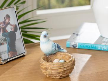 Cute Birds Polyresin Biblo 11*10*10.8cm Mavi