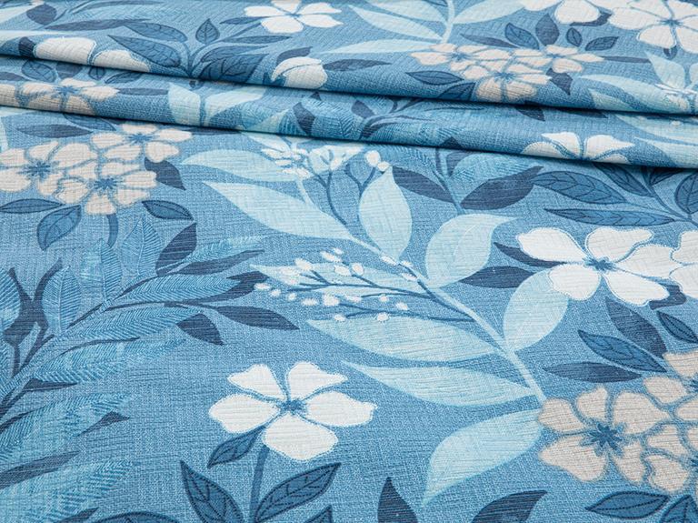 Summer Garden Baskılı Çift Kişilik Pike 200x220 Cm Mavi