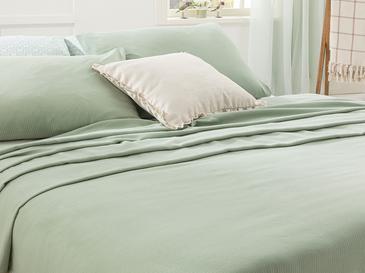 Cool Stripe Soft Touch Tek Kişilik Pike Seti 150x220 Cm Seledon