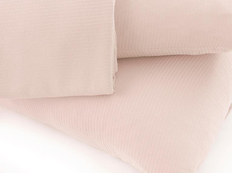 Cool Stripe Soft Touch Tek Kişilik Pike Seti 150x220 Cm Pembe