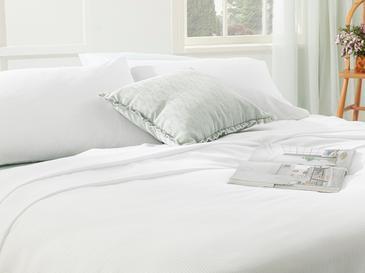 Cool Stripe Soft Touch Çift Kişilik Pike Seti 200x220 Cm Beyaz