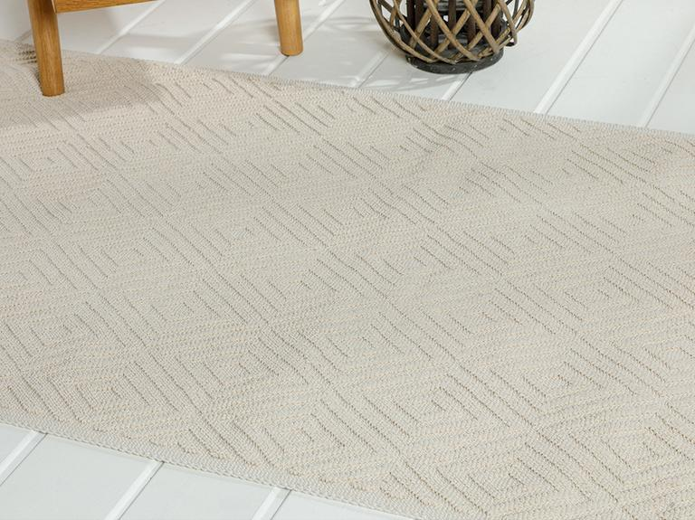 Diamonds Pamuklu Kilim 60x100 Cm Krem