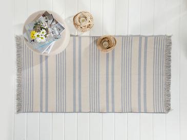 Modern Stripe Pamuklu Kilim 120x180 Cm Gri