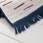 Retro Stripe Dokuma Çift Taraflı Kilim 120x180 Cm Beyaz - Lacivert