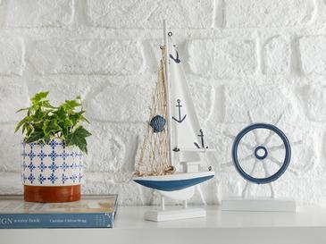 Sailers Mdf Dekoratif Obje 16x3,5x31,5 Cm Beyaz