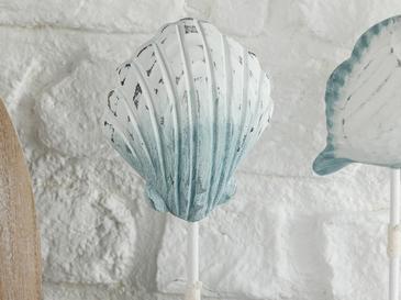 Marine Science Mdf Dekoratif Obje 10x4,5x23 Cm Beyaz - Mavi