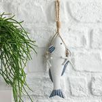 Fish Bone Mdf Askılı Aksesuar 32x7,5x3,5 Cm Beyaz