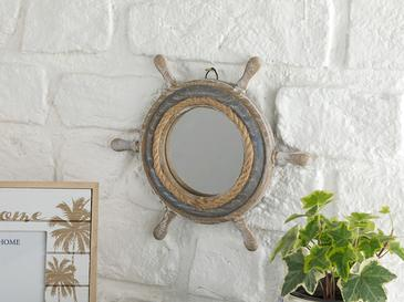Vintage Marine Mdf Ayna 23x20x2 Cm Ahşap