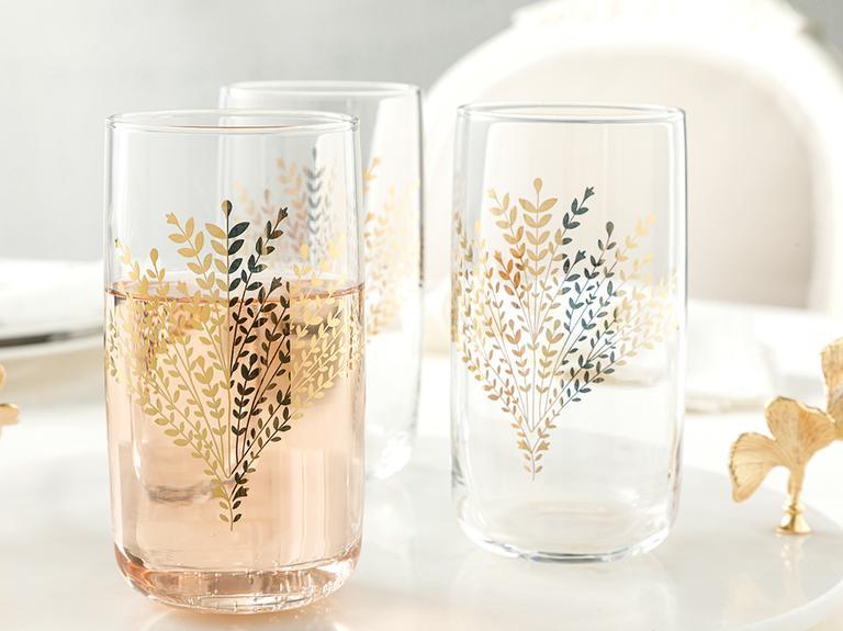 Weensy Cam 3'lü Meşrubat Bardağı 365 Ml Gold