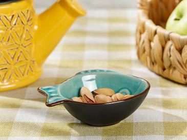 Little Fish Stoneware Çerezlik 10 Cm Mavi