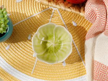 Flora Stoneware Çerezlik 8,5 Cm Sarı
