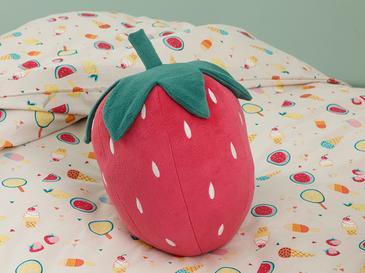 Strawberry   Dekoratif Yastık 35x30 Cm Pembe