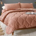 Comfy Stripe İpliği Boyalı King Size Uyku Seti 240x220 Cm Tarçın