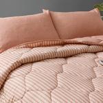 Comfy Stripe İpliği Boyalı Tek Kişilik Uyku Seti 160x220 Cm Tarçın