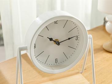 Elegance Metal Masa Saati 20x21x9cm Beyaz