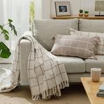Elegant Lines Pamuk Polyester Koltuk Şalı 130x170 Cm Bej