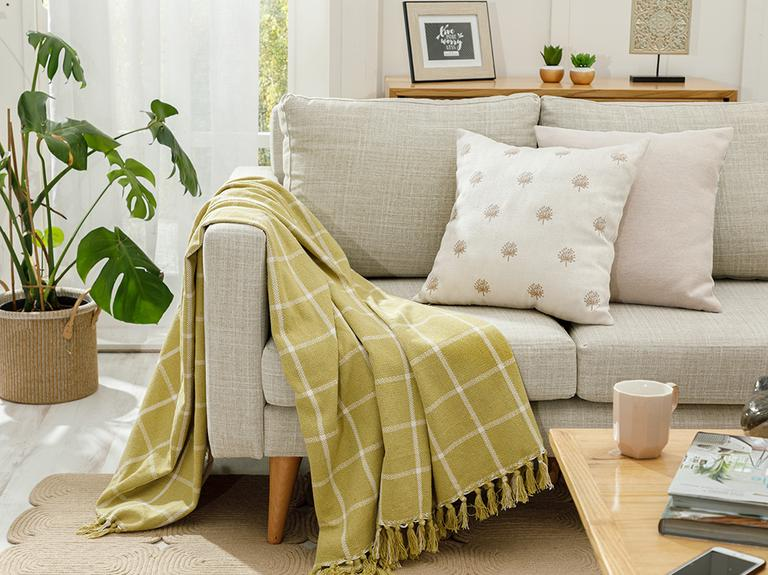 Modern Lines Pamuk Polyester Koltuk Şalı 130x170 Cm Kivi Yeşili