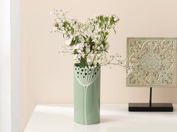 Dandelion Vazo 7.7x7.7x17.3 Cm Yeşil