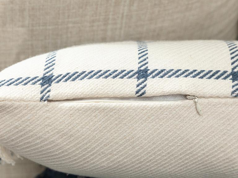 Elegant Lines Pamuk Polyester Dolgulu Kırlent 35x50 Cm İndigo