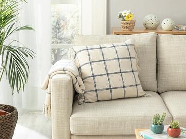 Elegant Lines Pamuk Polyester Dolgulu Kırlent 45x45 Cm İndigo