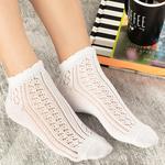 Amber Pamuk Kadın Çorap Beyaz