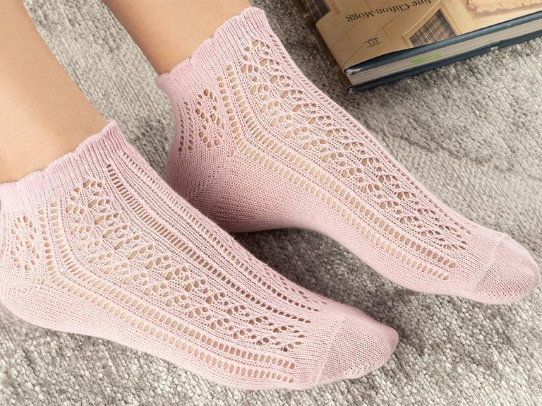 Amber Pamuk Kadın Çorap Pembe
