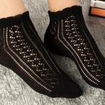 Amber Pamuk Kadın Çorap Siyah