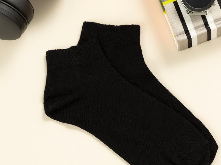 Simple Pamuk Erkek Çorap Siyah