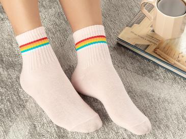 Colourful Joy Pamuk Kadın Çorap Pembe