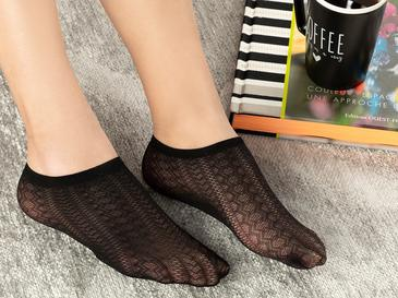 Violet Kadın File Babet Çorap Siyah