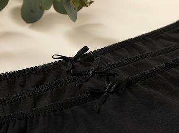 Simple Black Pamuk Düz Külot Xl Siyah