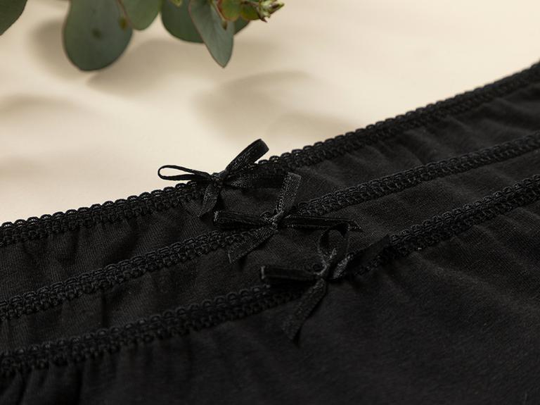 Simple Black Pamuk Düz Külot S Siyah