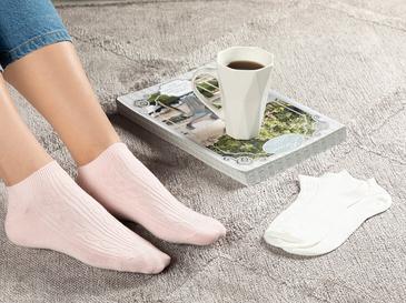 Sophia Pamuk 2'li Kadın Çorap Pembe -Beyaz