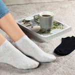 Sophia Pamuk Kadın 2'li Kısa Konçlu Çorap Siyah - Gri