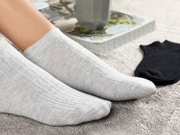 Sophia Pamuk 2'li Kadın Çorap Siyah- Gri