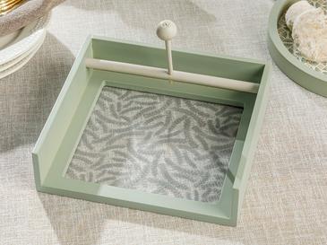 Lovita Ahşap Peçetelik 18 Cm Yeşil