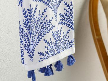 Weensy Pamuk Kurulama Bezi 40x60 Cm Beyaz - Mavi