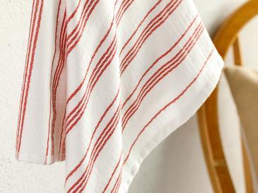 Marine Stripe Pamuk Kurulama Bezi 40x60 Cm Kırmızı