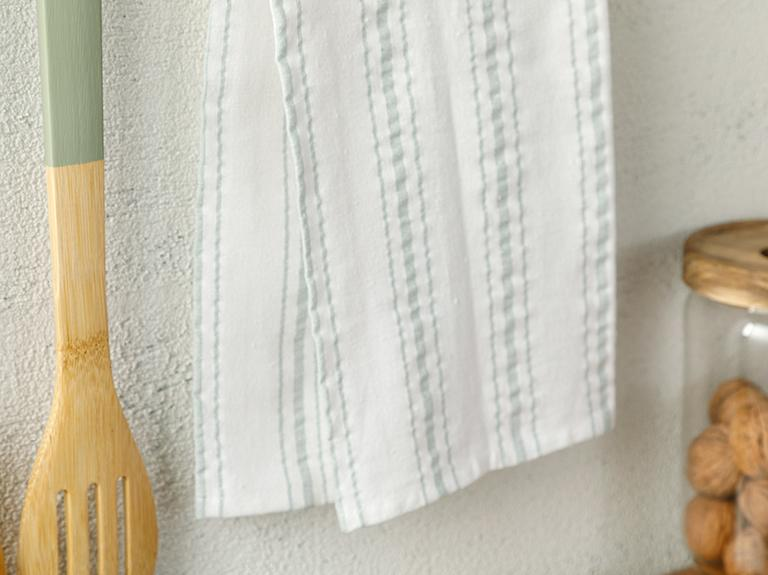 Softy Stripe Pamuk Kurulama Bezi 40x60 Cm Yeşil